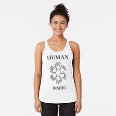 'Decorative black and white round mandala' T-Shirt by asnia Black And White Doodle, Design Mandala, Mandala Art, Racerback Tank Top, Black Tank Tops, Chiffon Tops, Sleeveless Tops, Shirt Style, T Shirt