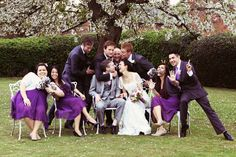 bridal party sillyneeeeess. photography by Rebecca Wedding Photography (UK)