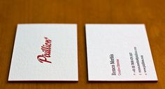 Letterpress Business Cards - Pixillion