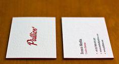 Letterpress Business Cards - Pixillion