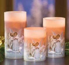 Kissing Angels Flameless Candles
