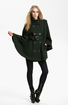 Rachel Zoe 'Candice' Funnel Neck Cape available at #Nordstrom