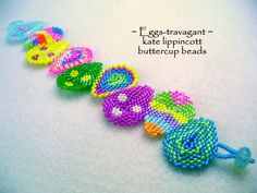 Eggs-travagant by Kat Lippincott of Buttercup Beads