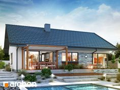Dom pod jarząbem 8 (N) Small House Layout, Small House Design, House Layouts, Farmhouse Homes, Modern Farmhouse, Gazebo, Pergola, Home Fashion, Bungalow