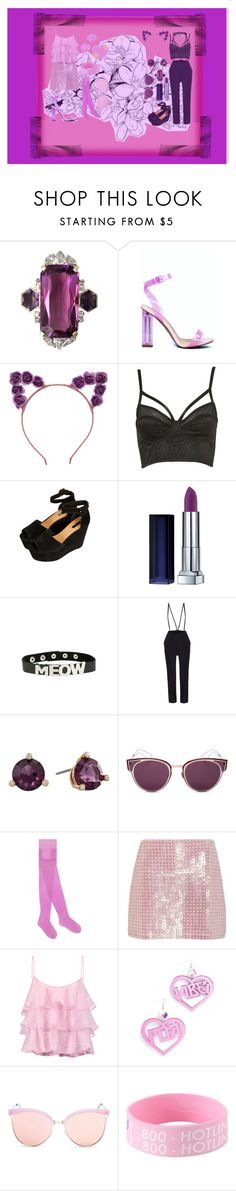"""""""Halloween; Gorgon and Werecat"""" by jack-rabbit ❤ liked on Polyvore featuring Topshop, Maybelline, Kate Spade, Christian Dior, Gucci, Adam Selman, Pierre Balmain, Trixy Starr, Quay and Big Bud Press"""