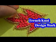 French Knot Embroidery, Aari Embroidery, Hand Embroidery Videos, Embroidery Stitches Tutorial, Embroidery Works, Magam Work Designs, Hand Work Design, Hand Work Blouse Design, Peacock Embroidery Designs