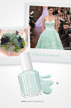 Fashion Playground from Essie, the ideal choice for the bride who wants to get on the mint wedding trend.