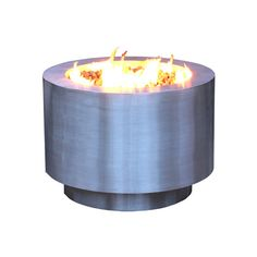 """Arco Fia 38"""" Stainless Steel Hidden Tank Fire Pit   WoodlandDirect.com: Outdoor Fireplaces: Fire Pits - Gas, Bentinto Shape #LearnShopEnjoy"""