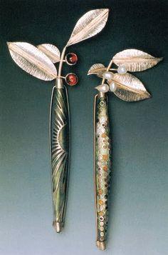 Linda Darty - Garden Brooches. http://www.annabelchaffer.com/categories/Designer-Jewelery/