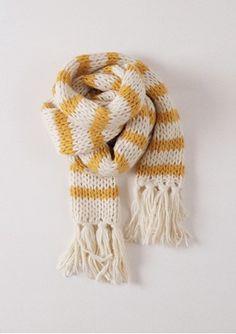 Knitted Striped Scarf B.C. - http://www.bobochoses.com