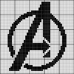 Free Avengers Symbol Cross Stitch Chart