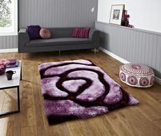 Perfekt Noble House NH 659 Shaggy Rug   Purple