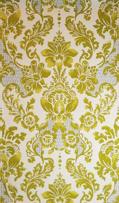 'Palais' (olivine) wallpaper by Tyler Hall