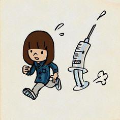 #予防接種 #インフルエンザ #イラスト