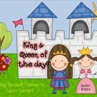 King and Queen of the Day is a beginning of the year procedure for kindergarten and first grade in which we start our study of letters by using wha...