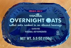 Overnight Oats Almond Milk, Overnight Oatmeal, Trader Joes Vegan, Trader Joe's, Dairy Free, Gluten Free, Sweet Breakfast, Quick Snacks, Lunches And Dinners