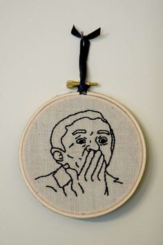 Twin Peaks The Man From Another Place Embroidered by AllNightDiner, $30.00
