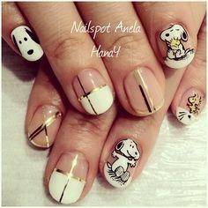 #snoopy #manicure #nailart