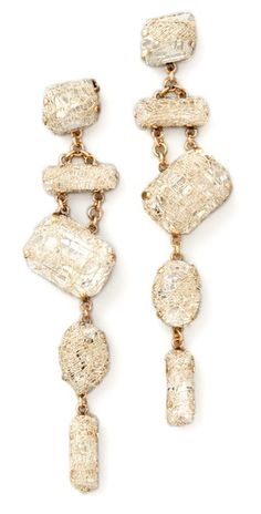 $315 Erickson Beamon Smoke & Mirrors Earrings