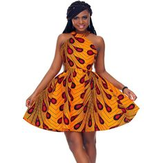 online shopping for Shenbolen Women African Ankara Batik Print Traditional Clothing Casual Party Dress from top store. See new offer for Shenbolen Women African Ankara Batik Print Traditional Clothing Casual Party Dress African Fashion Designers, African Dresses For Women, African Print Fashion, African Attire, African Fashion Dresses, African Wear, African Prints, African Women, Africa Fashion