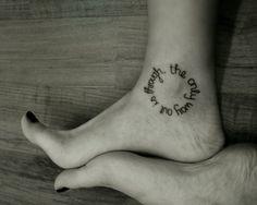 inspitational tattoos | cirlce, feet, inspiration, tattoo, tattoos, words - image #23522 on ...