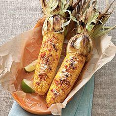 Grilled Cheesy Corn | MyRecipes.com