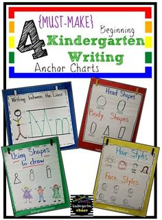 Do you love and use anchor charts as much as I do? Then you are going to love these Must Make Kindergarten Anchor Charts! Why anchor charts in Kindergarten? I use anchor charts almost every day a Beginning Of Kindergarten, Kindergarten Anchor Charts, Writing Anchor Charts, Kindergarten Centers, Beginning Of School, Kindergarten Classroom, Classroom Ideas, Kindergarten Handwriting, Kindergarten Writers Workshop