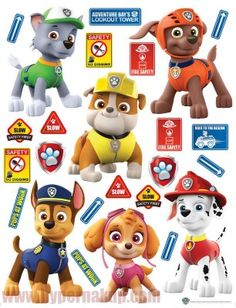Dekoračné detské nálepky DK 2325 PAW PATROL Lookout Tower, Safety First, Fire Safety, Paw Patrol, Pup, Products, Dog Baby, Puppies, Puppys