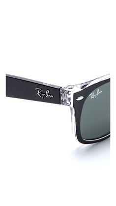 Transparent Wayfarer Sunglasses