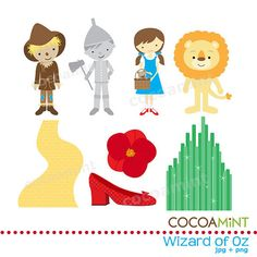 wizard of oz - could use for cupcake toppers or bag toppers