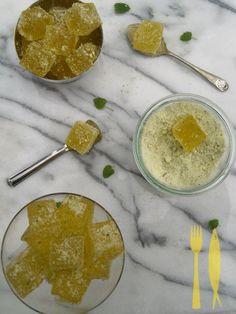 Sparkling Lemon Jubes Rolled in Lemon Balm Sugar