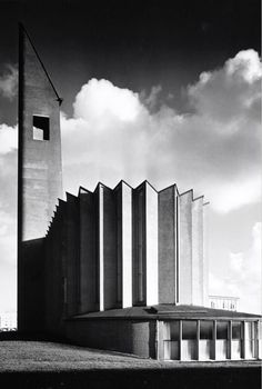 germanpostwarmodern:  Opstandingskerk (1956) in Amsterdam, the Netherlands, by Marius Duintjer
