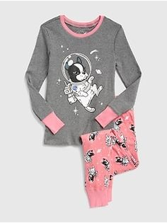 NEW BABY GAP KIDS Girls Pink Ballerina Fairy 2 Piece PJ Pajama Long Sleeve 18 24
