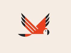 Parrot by Jay Fletcher Logo Animal, Animal Graphic, Graphic Design Typography, Logo Design, Identity Design, Brand Identity, Silhouette Logo, Parrot Logo, Bird Illustration