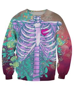Skeleton Print Sweatshirt