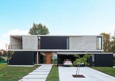 Ideas For Exterior Modern Villa Facades Modern Architecture House, Residential Architecture, Architecture Details, Flat Roof House, Facade House, House Front Design, Modern House Design, Contemporary Design, Modern Exterior