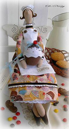 Куклы Тильды ручной работы. Ярмарка Мастеров - ручная работа Фея  МАФФИНОВ. Handmade.