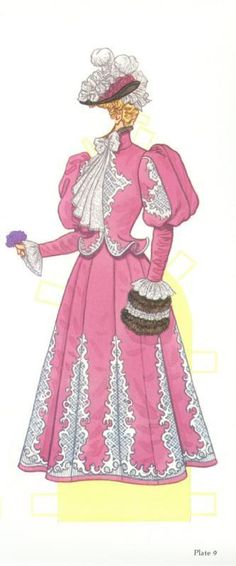 Fashions of the Gilded Age (9 of 16) by Tom Tierney, Dover Publications