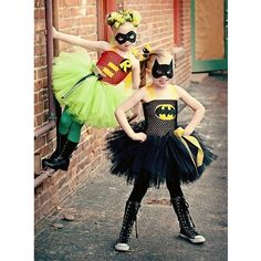 This is my Halloween costume, I'm bat girl, 11, and my 7 year old sister will be Robin!