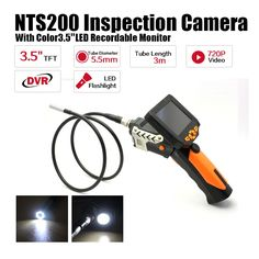 """133.19$  Buy here - http://ali0o0.worldwells.pw/go.php?t=32662612029 - """"Free Shipping!3.5"""""""" LCD Inspection Camera 5.5mm Borescope Endoscope Scope Zoom Rotate 3M Cable"""" 133.19$"""