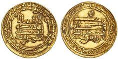 Tulunid, Khumarawayh, AV Dinar, 4.16g, Misr, AH277 (Bernardi 193De; A.664.1),