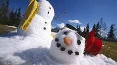 Snowmen across the globe