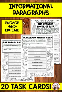 Help your elementary (3rd grade, 4th grade, 5th grade) students will the structure of paragraphs through this paragraph activity. Students will be actively engaged as they are to assemble paragraphs in order. They will be using task cards to complete the paragraph activity. #paragraphactivity #topicsentence Reading Resources, Writing Activities, Writing Ideas, Teacher Resources, Paragraph Writing, Persuasive Writing, Writing Rubrics, Opinion Writing, Teaching Strategies
