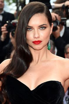 The best celebrity beauty looks spotted at Cannes: Adriana Lima's glamorous hair waves
