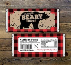 Baby Candy Bar Wrapper lumberjack bear Party by LyonsPrints Lumberjack birthday party ideas Boy Baby Shower Themes, Baby Shower Favors, Baby Boy Shower, Baby Shower Invitations, Baby Showers, Party Favors, Birthday Favors, Birthday Ideas, Birthday Candy