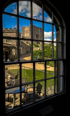 clitheroe castle From museum window .