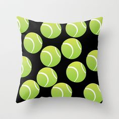 TENNIS BALLS  Throw Pillow by Robleedesigns - $20.00