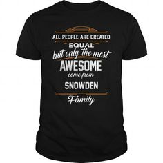 Awesome Tee SNOWDEN Name tee Shirts T shirts