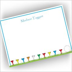 Golf Tee Correspondence Cards from American Stationery