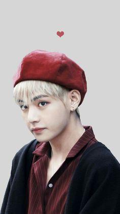Tae × boinas y en rojo es como lo mejor que tus ojos puedan ver